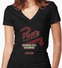 Pop's Riverdale Women's Fitted V-Neck T-Shirt