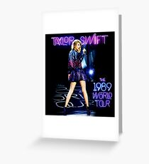 1989 LIVE SWIFT TAYLOR TOUR LEMARIA Greeting Card