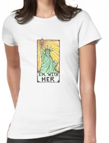 Im with her- With Lady Liberty Womens Fitted T-Shirt