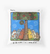 Tree-huggers Throw Pillow