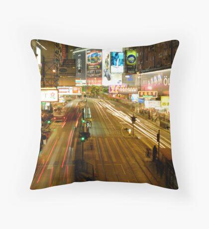 Night Life Throw Pillow