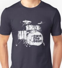 Drummer T shirt - Percussion drum set own the beat T-Shirt