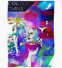 Cocteau Twins psychedelic tee  Poster