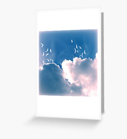 What Do Clouds Eat? Greeting Card