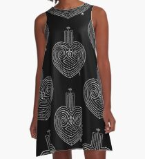 Love is a Labyrinth (Black & White Edition)  A-Line Dress