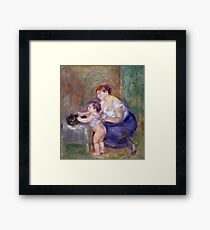 Auguste Renoir - Mother And Child, 1895 Framed Print