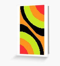 Pixel Art Wallpaper Greeting Card