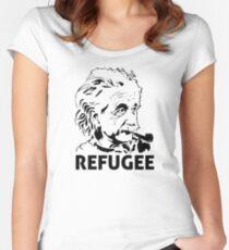 Einstein Refugee Women's Fitted Scoop T-Shirt