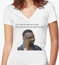 Roll Safe Shirt Women's Fitted V-Neck T-Shirt