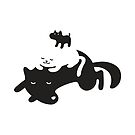 Puppy on a Cat on a Dog by Martin Mejak