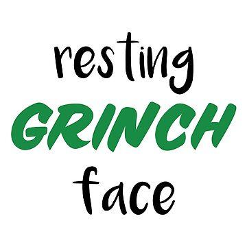 Resting Grinch Face by jenniferzalzal