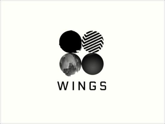 bts wings logo art prints by sykestalia redbubble