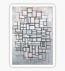 Piet Mondriaan Composition No. IV Sticker