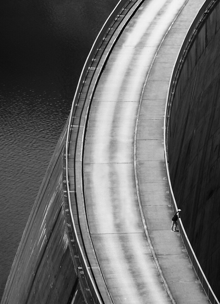 """""""DAMN!"""", said a man at the top of the dam. by Teton"""