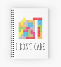 I don't care Spiral Notebook