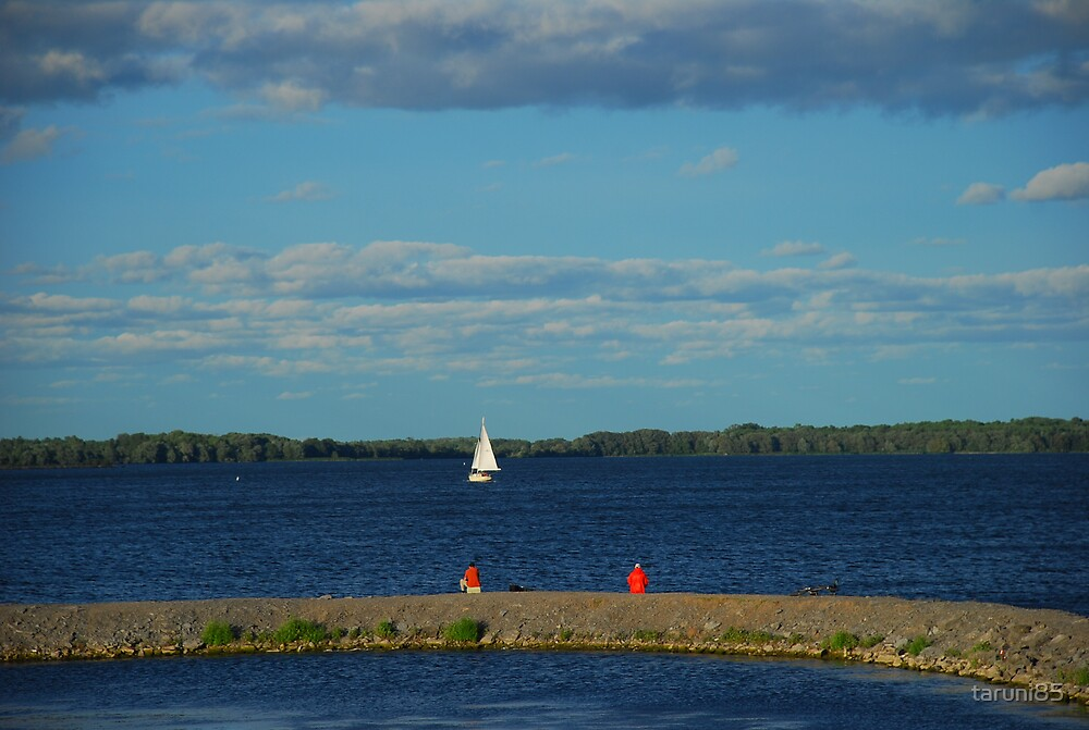 Fishing and Watching Boats by taruni85