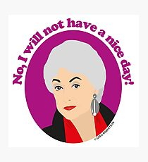 Bea Arthur as Dorothy Zbornak from The Golden Girls Photographic Print