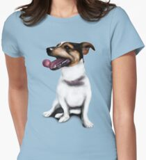 Smartie Jack Russell Terrier Design Womens Fitted T-Shirt