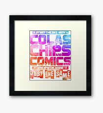 Colas Chips and Comics - Comic Books Framed Print