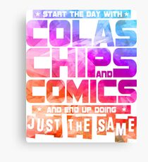Colas Chips and Comics - Comic Books Canvas Print