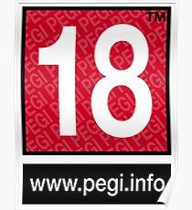 Pegi 18 - under over eighteen Poster