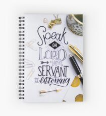 Golden Typography Calligraphy with Creative Pen Touch Spiral Notebook