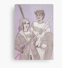 Quidditch Harry and Ginny Metal Print