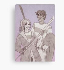 Quidditch Harry and Ginny Canvas Print