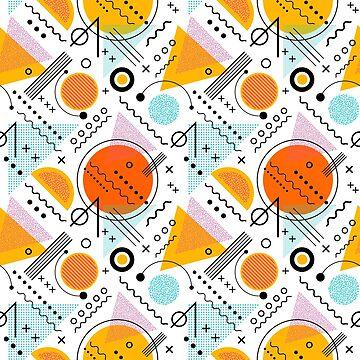 1980s colorful geometric pattern by DKMurphy