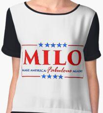 Milo Yiannopoulos - Make America FABULOUS Again! Women's Chiffon Top