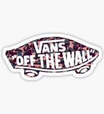 "Vans ""Off The Wall"" X Bape camo PINK Sticker"