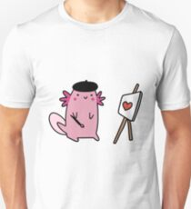 Painter Axolotl  T-Shirt