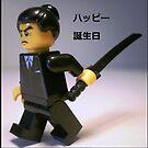 Happy Birthday Greeting Card Japanese Yakuza Gokudō Gangster Custom Minifigure by Chillee