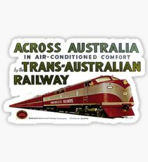 Retro Comm Rails Poster Sticker