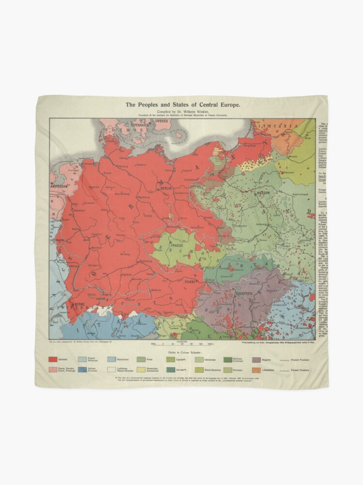Map Of Central Germany.Map Of Greater Germany 1920 Scarf