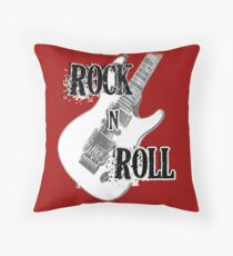 Rock Roll Music  Throw Pillow