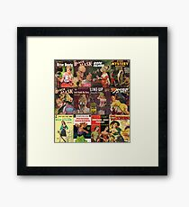 Pulp Fiction Patchwork collage Framed Print