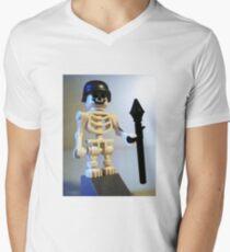 Skeleton Zombie Soldier with Custom Minifigure Helmet & Bazooka T-Shirt