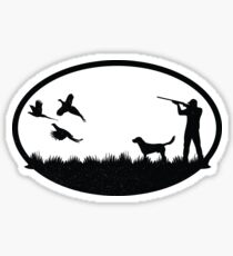 Vintage Pheasant Hunting Illustration Sticker