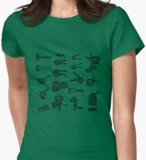 LINEart T-shirt : Adaptor Grinder  Womens Fitted T-Shirt