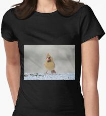 Curious Cardinal Womens Fitted T-Shirt