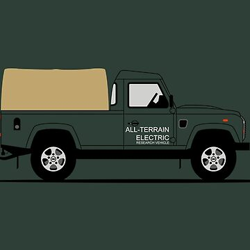 A Graphical Interpretation of the Defender 110 Pick Up Electric Research Vehicle  by 3pedaldriving