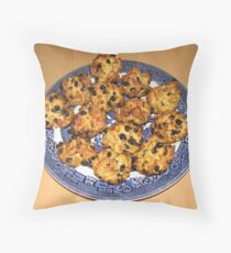 Oven Fresh Rock Cakes Throw Pillow