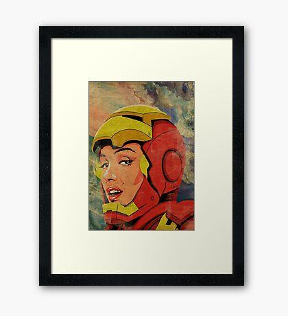 Iron Monroe Framed Print