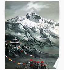 Panoramic View Of Mountain Everest Poster