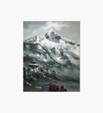 Panoramic View Of Mountain Everest Art Board