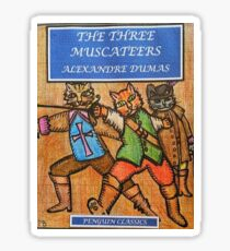 The Three MusCateers Sticker