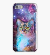 Proud Cat With Space Background                                                                   iPhone Case/Skin