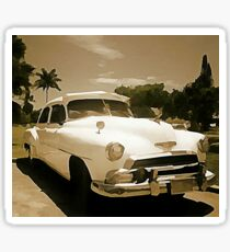 Classic Old Cadillac in Cuba Sticker