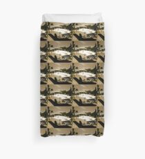 Classic Old Cadillac in Cuba Duvet Cover